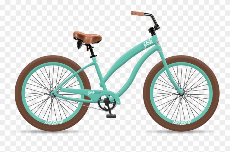 Check bike tires clipart black and white clip free download Graphic Black And White Bike Transparent Beach Cruiser - Cruiser ... clip free download