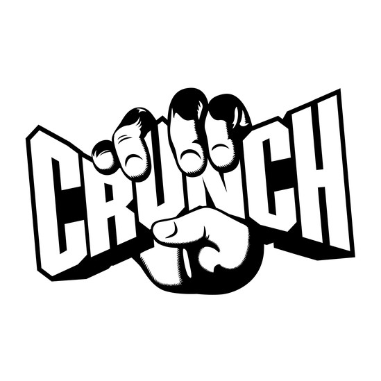 Crunch fitness Logos graphic free stock