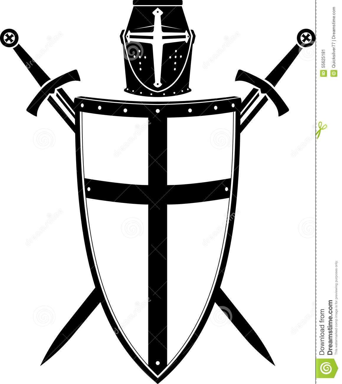 Crusader clipart black and white Crusader shield clipart 9 » Clipart Portal black and white