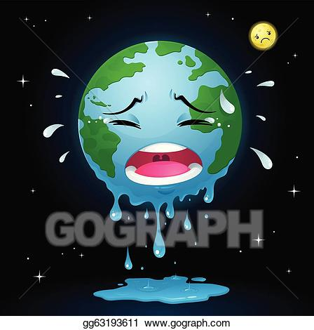 Crying earth clipart jpg free Vector Clipart - Crying earth. Vector Illustration ... jpg free