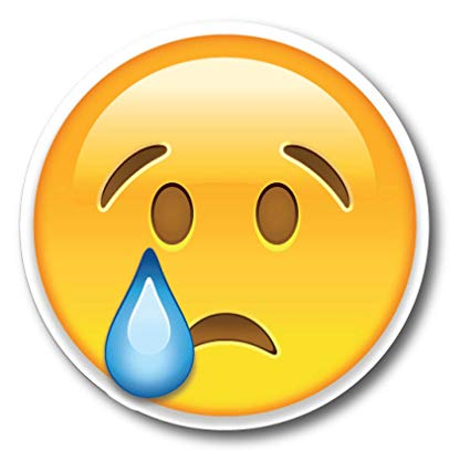 Crying emoji clipart jpg free library Amazon.com: Crying Emoji Magnet Decal Perfect for Car or Truck ... jpg free library