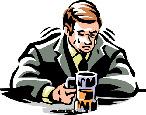 Crying man clipart freeuse library man crying in his beer Royalty Free Vector Clip Art illustration ... freeuse library