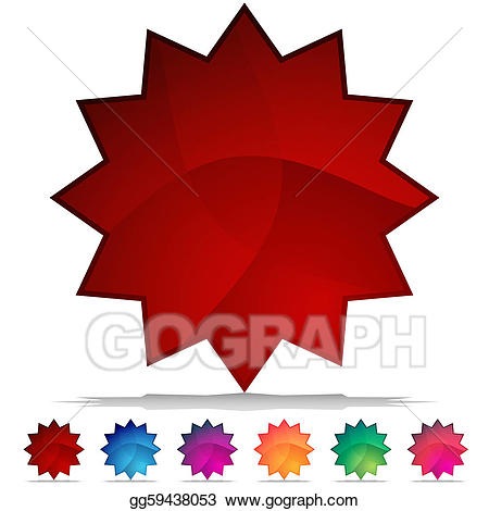 Crystal button clipart banner free download EPS Vector - Starburst mosaic crystal button set. Stock ... banner free download