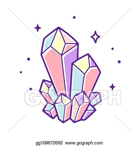 Vector Clipart - Pastel crystal gems. Vector Illustration ... picture transparent