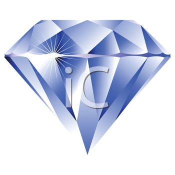 Crystal graphics clipart graphic free stock Royalty Free Clipart Image: Sparkling Blue Crystal Gem graphic free stock