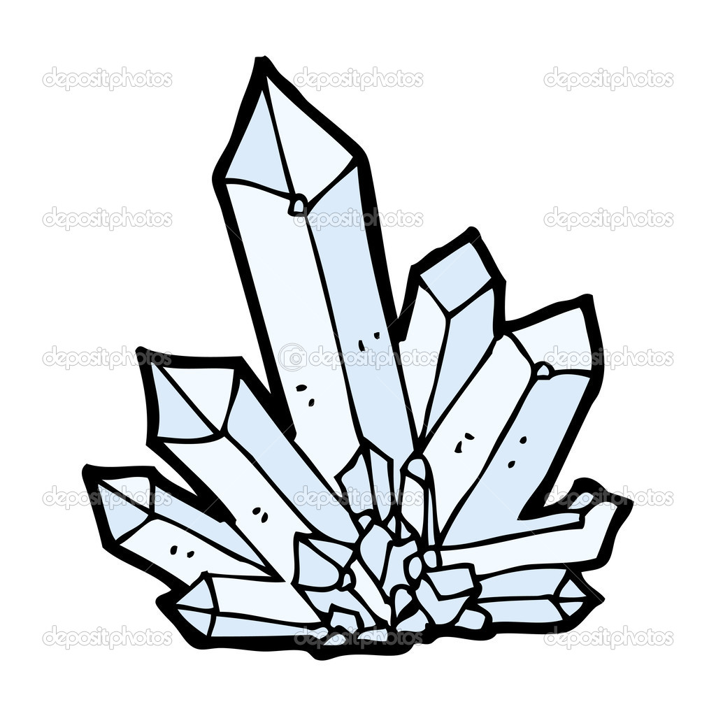 Crystal graphics clipart picture black and white stock Cartoon crystals | tatuando.... | Pinterest | Stock illustrations ... picture black and white stock