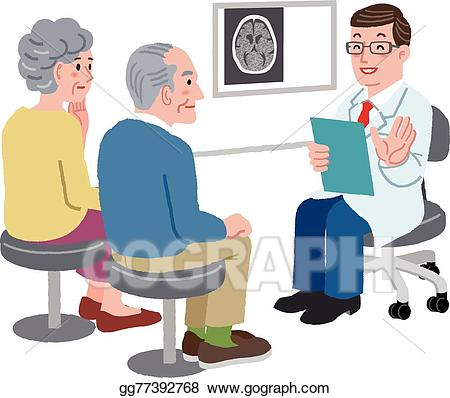 Ct exam clipart banner freeuse stock Vector Art - Doctor talking with his patient and the family ... banner freeuse stock