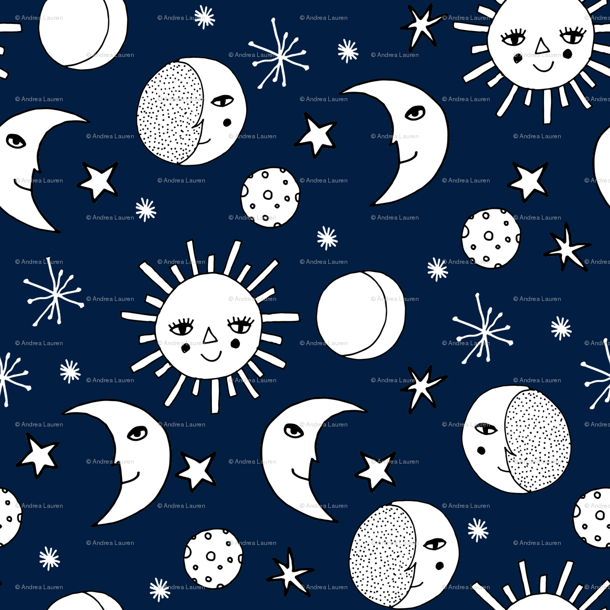 Cu sun moon and stars watercolor clipart image library download sun moon stars // navy blue kids nursery kids room sweet ... image library download