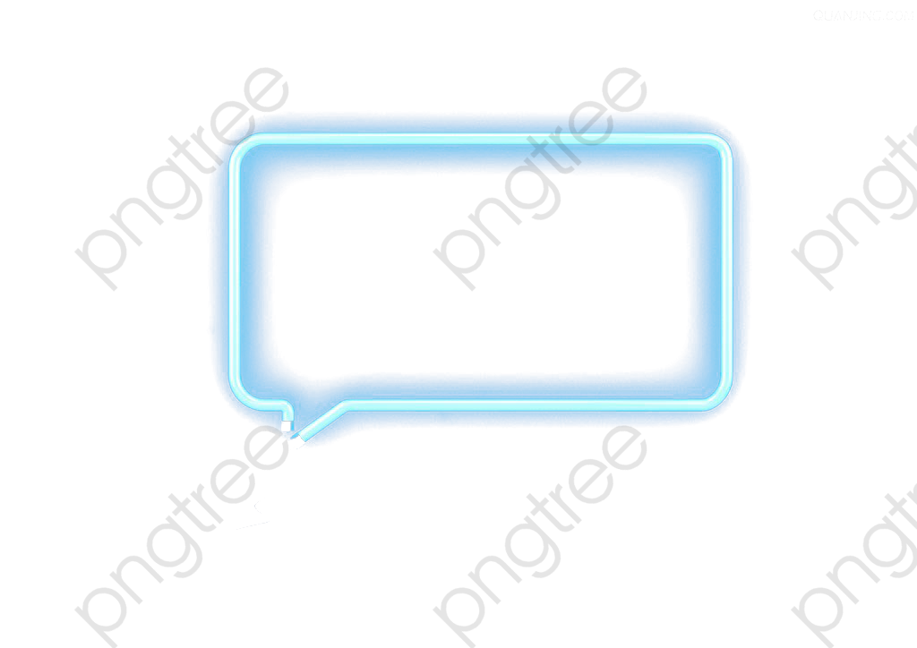 Cuadro neon clipart picture download Blue Glow Dialog Box, Neon Box, Dialog Box, Glowing PNG ... picture download