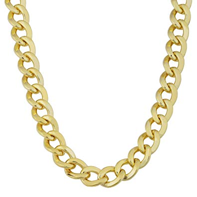 Cuban link clipart png Kooljewelry Mens 14k Yellow Gold Filled 9 mm High Polish Miami Cuban Curb  Link Chain Necklace png