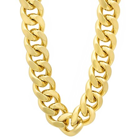 Cuban link clipart graphic library download 14mm 14k Gold Plated Miami Cuban Link Chain Necklace + Microfiber Jewelry  Polishing Cloth graphic library download
