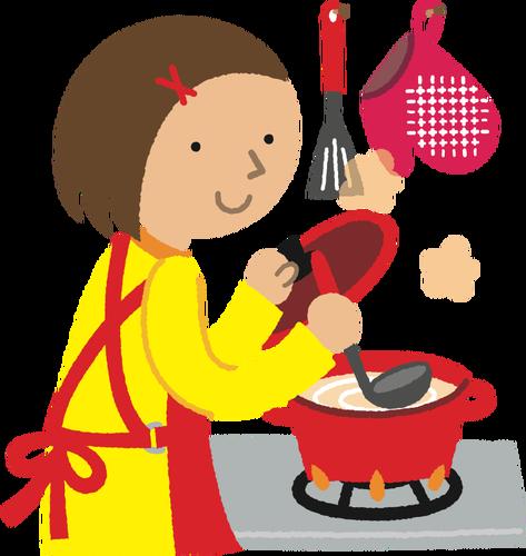 Cucinare clipart graphic library download Donna che cucina | Immagini vettoriali gratuiti graphic library download