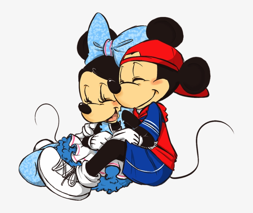 Cuddle clipart black and white library Cuddle Clipart Mickey Minnie - Cool Mickey And Minnie Transparent ... black and white library