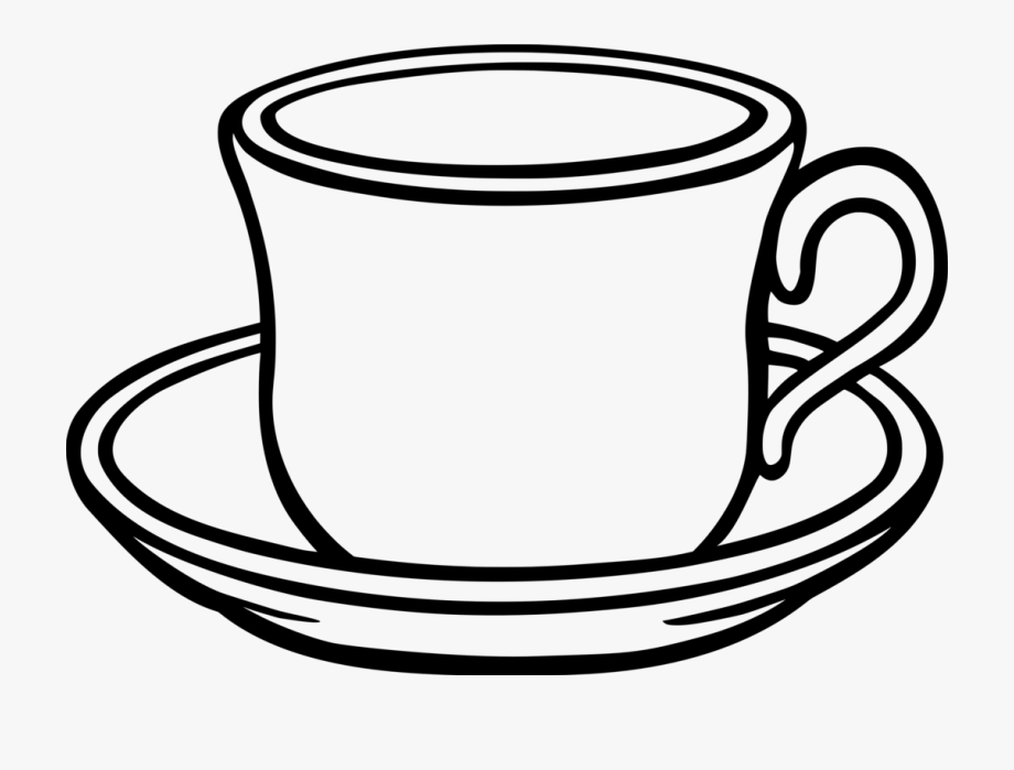 Table-glass Coffee Saucer Teacup - Cup Clipart Black And ... clip transparent