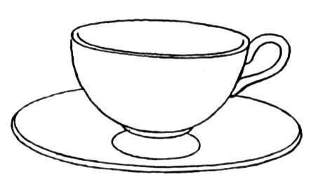 Cup And Saucer coloring page | Free Printable Coloring Pages picture transparent download