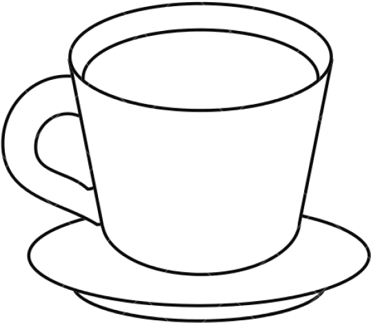 Teacup Clipart Cup Saucer - Cup And Plate Drawing - Png ... graphic free library