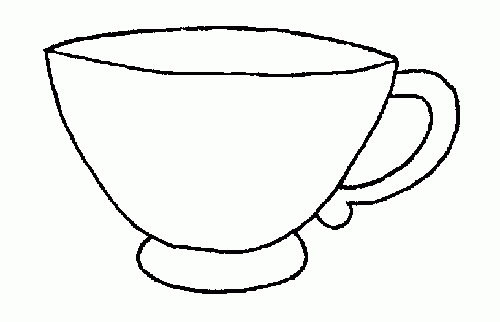 Cup clipart black and white download Tea Cup Clipart Black And White | Clipart Station pertaining ... download