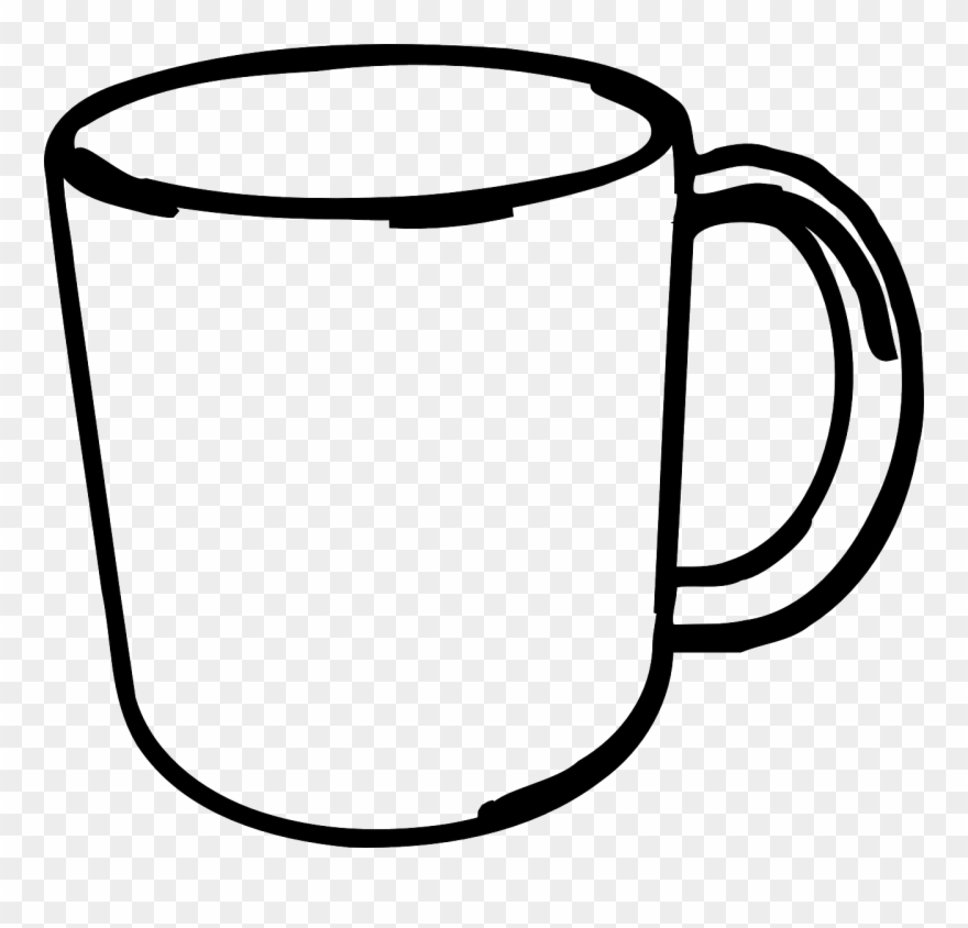 Cup clipart black and white svg black and white download Cup Clipart Black And White 6 - Clip Art Black And White Mug ... svg black and white download