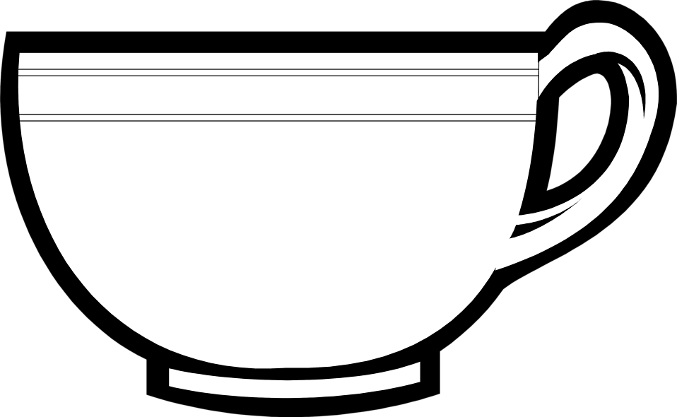 Cup clipart black and white clipart free Tea cup black and white clipartbarn – Gclipart.com clipart free