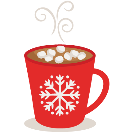 Cup of hot cocoa clipart png black and white Hot Cocoa SVG scrapbook cut file cute clipart files for ... png black and white