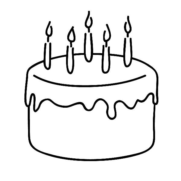 Cupcake 2 candles clipart black and white transparent stock Cupcake black and white birthday cupcakes clipart black and ... transparent stock