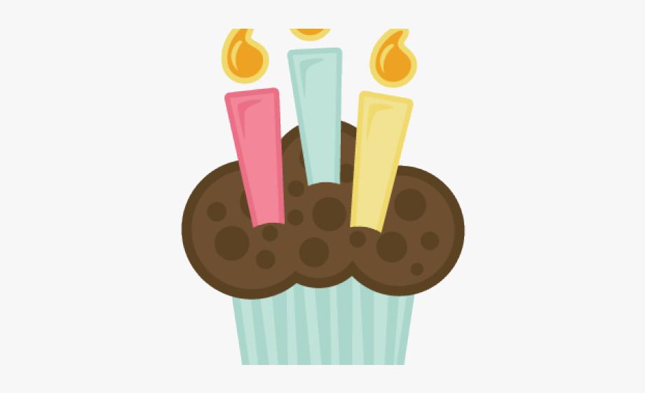 Cupcake 2 candles clipart black and white clip Birthday Candles Clipart Cupcake Candle - Cupcake Com Vela ... clip