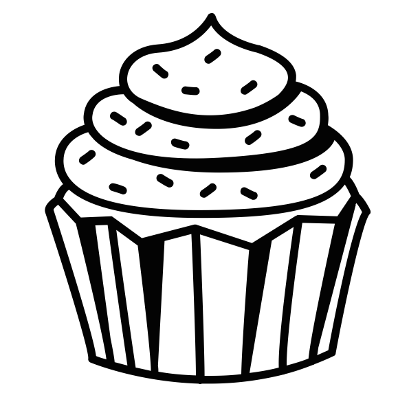 Cupcake clipart free black and white svg library Black And White Cupcake Png (+) - Free Download | fourjay.org svg library