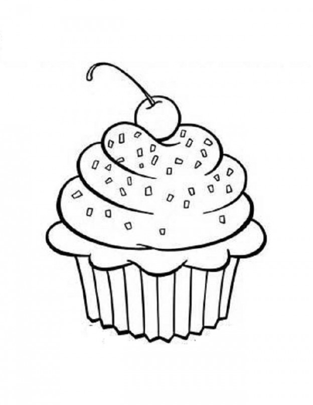Cupcake clipart free black and white clip art transparent library Cupcake Clipart Black And White - 45 cliparts clip art transparent library