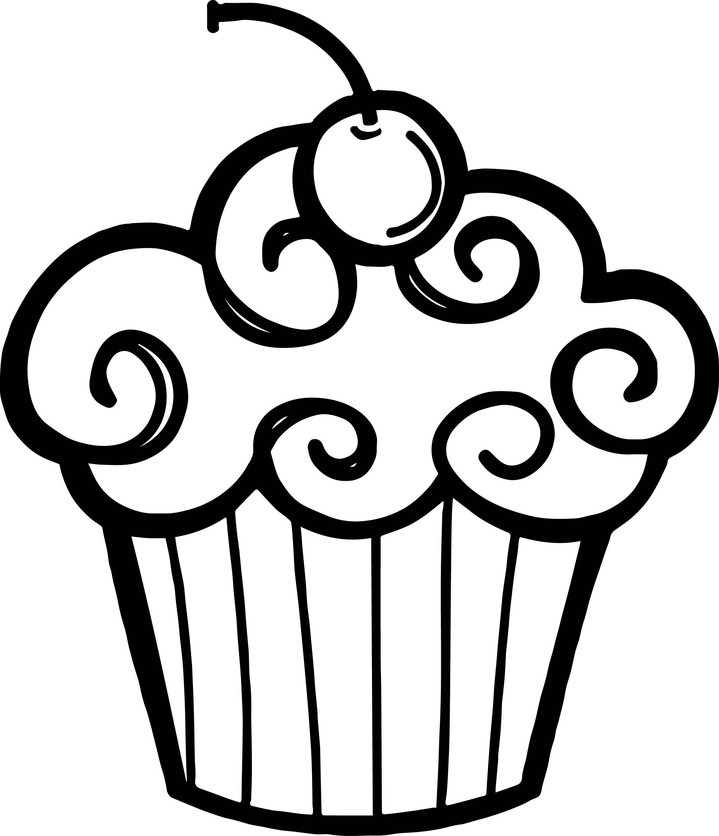 Cupcake clipart free black and white vector freeuse stock Free Cupcake Clipart Black And White | Free download best Free ... vector freeuse stock