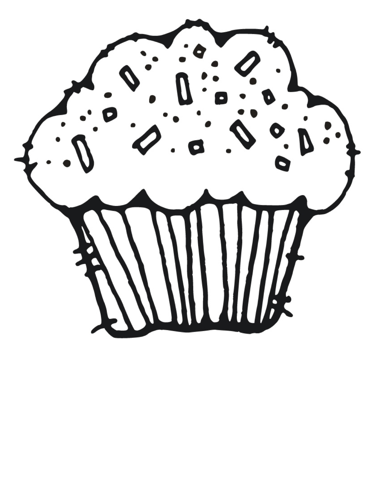 Cupcake clipart free black and white png royalty free download Best Cupcake Clipart Black And White #5197 - Clipartion.com png royalty free download