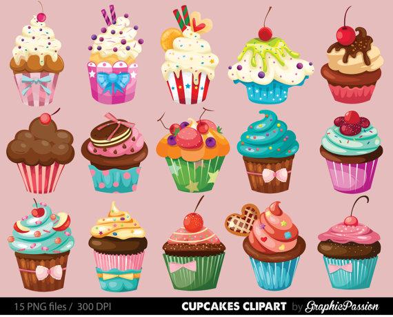 Clipartfest cupcakes digital . Cupcake geburtstag clipart