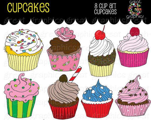 Party druckbare cupcakes digital. Cupcake geburtstag clipart