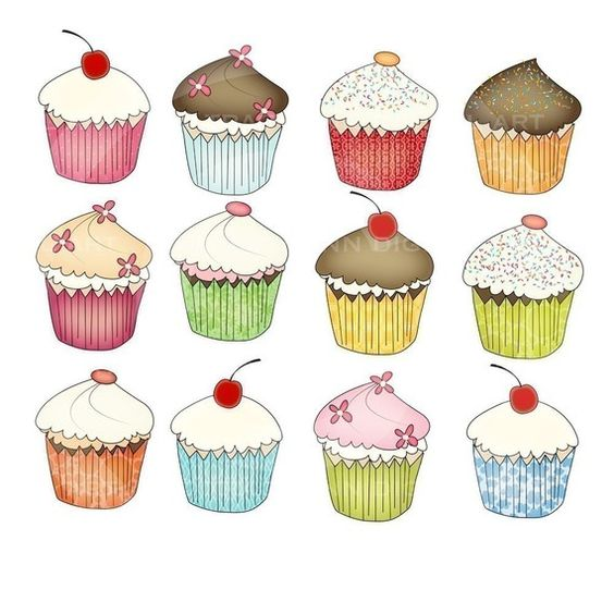 Cupcake geburtstag clipart clipart royalty free stock Cupcake, Cupcake template and Commercial on Pinterest clipart royalty free stock