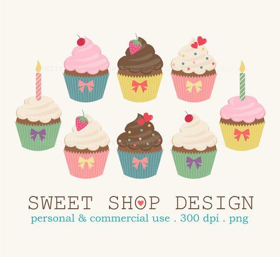 Cupcake geburtstag clipart.  best ideas about