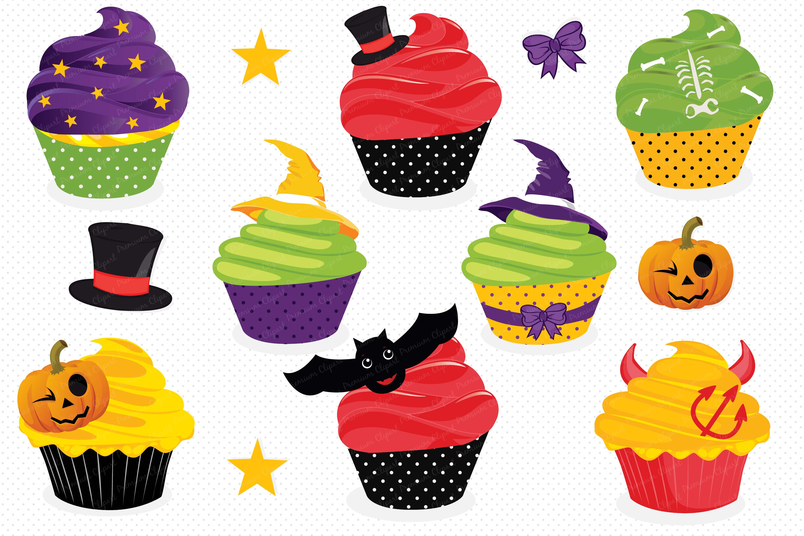 Cupcake graphics clipart vector black and white library Halloween cupcake clipart, Haloween cupcake graphics vector black and white library