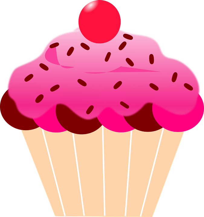 Flower cupcake clipart picture royalty free library CUPCAKE & BOLOS E ETC | my galeri | Pinterest | Pink icing, Cherries ... picture royalty free library