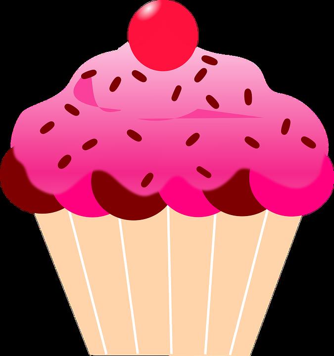 Cupcake with crown clipart jpg royalty free CUPCAKE & BOLOS E ETC | my galeri | Pinterest | Pink icing, Cherries ... jpg royalty free