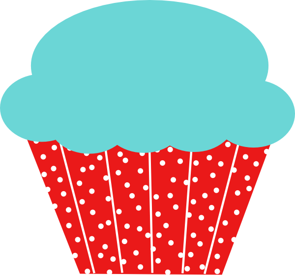 Heart cupcake clipart svg library stock Cupcake Clip Art at Clker.com - vector clip art online, royalty free ... svg library stock