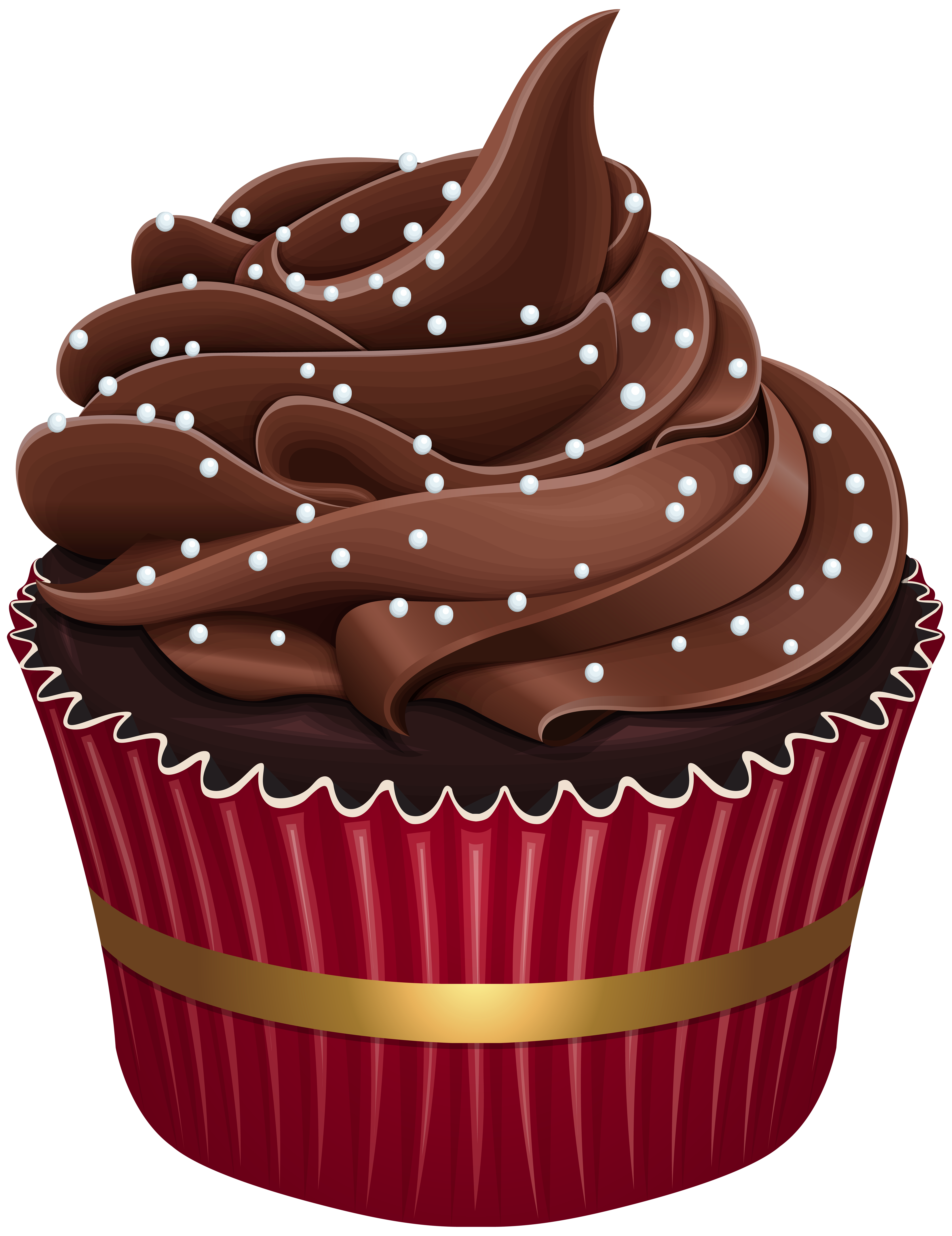 Cupcake with heart clipart png library download Cupcake PNG Clip Art | Gallery Yopriceville - High-Quality Images ... png library download