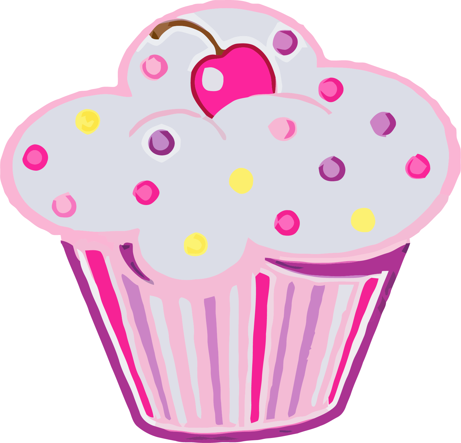 Cupcake with heart clipart clip art library stock Cupcake Clipart Png | jokingart.com Cupcake Clipart clip art library stock