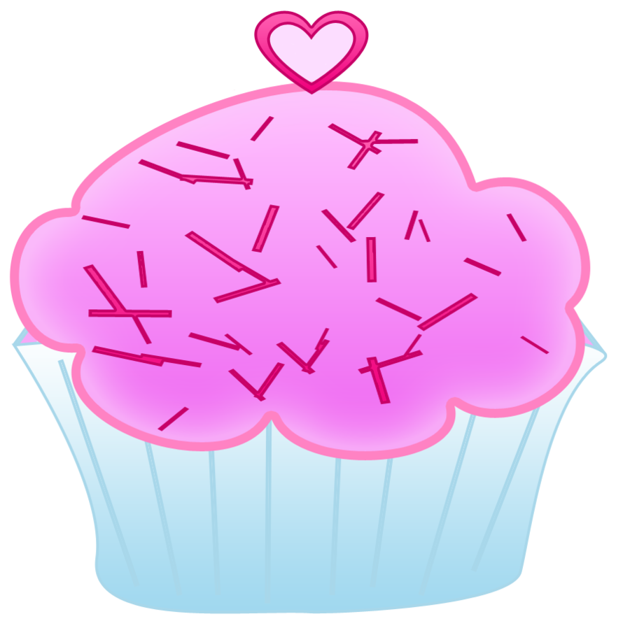 Cupcake with big heart inside clipart clip black and white library Pink Cupcake Clipart by WordDraw.deviantart.com on @DeviantArt ... clip black and white library
