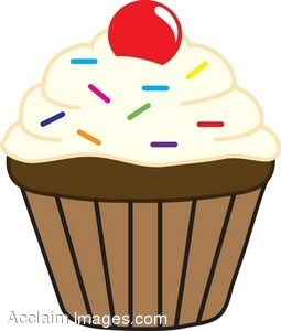 Cupcake sprinkles clipart graphic Cupcakes with sprinkles clipart 9 » Clipart Station graphic