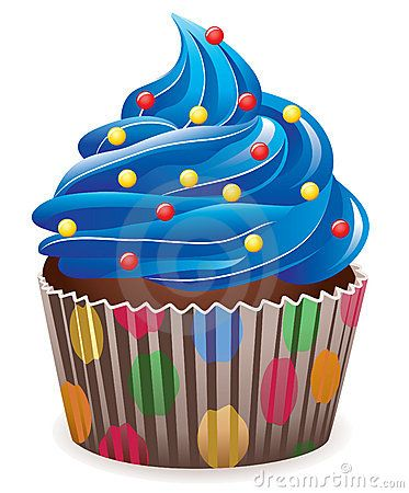 Cupcake sprinkles clipart jpg black and white Illustration of blue cupcake with sprinkles | etc. | Birthday cake ... jpg black and white