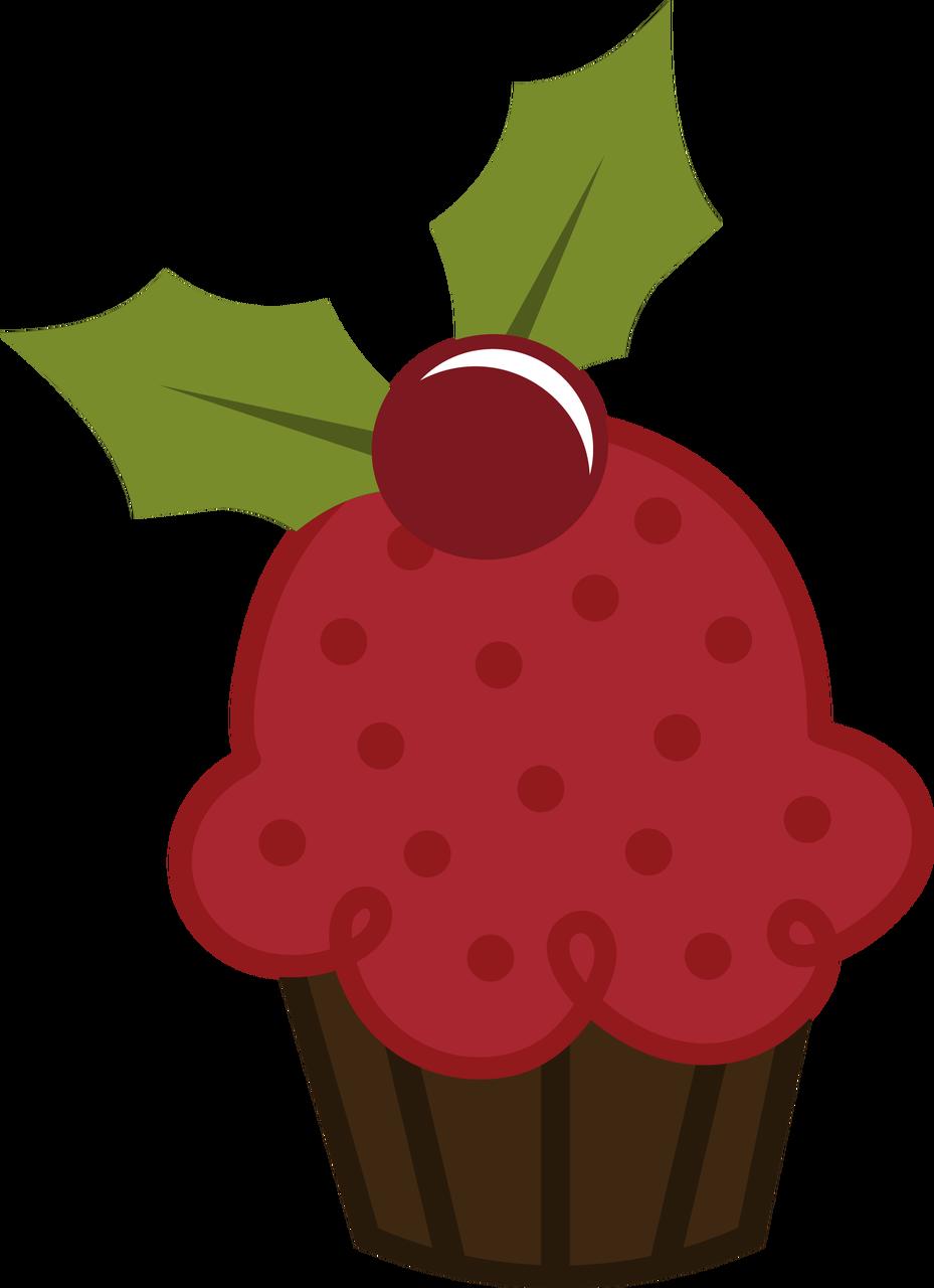 Christmas clip art. Cupcake tree clipart