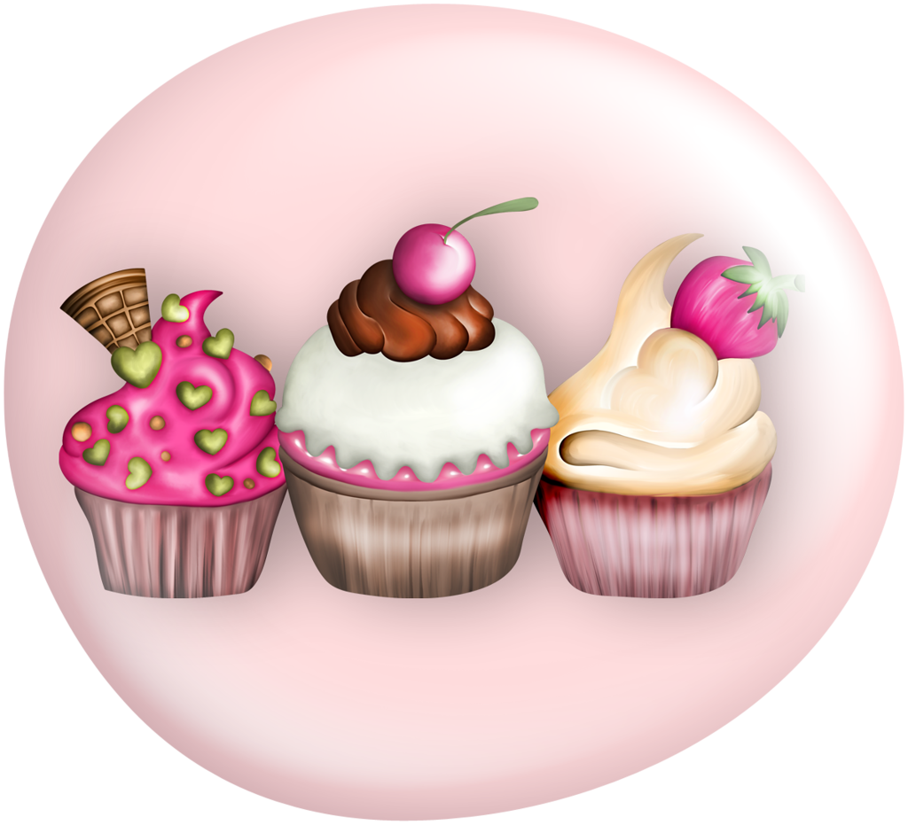 Cupcake with heart clipart banner library library VC_Buttons_Fashionable_08.PNG | Pinterest | Clip art and Album banner library library