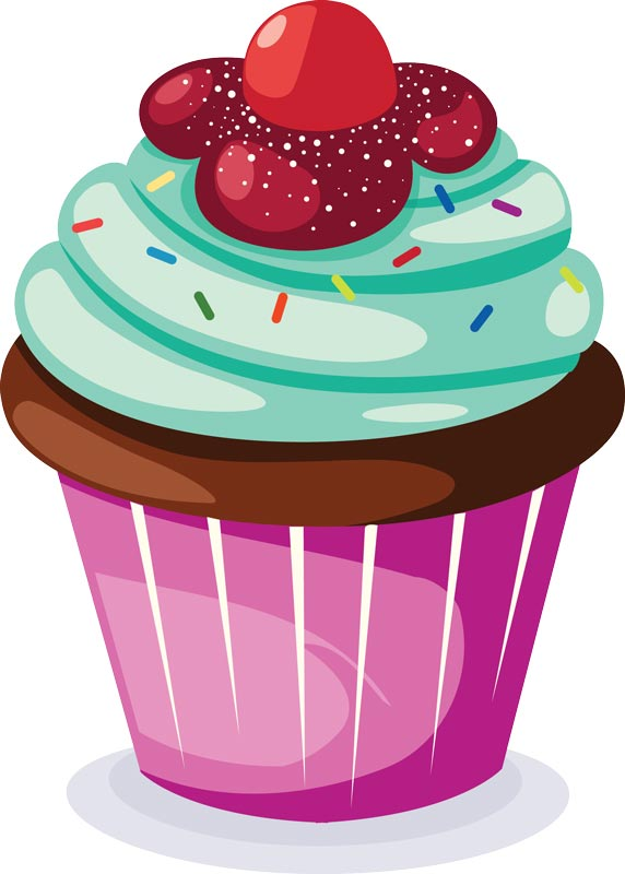 Sprinkle Cupcake Vector - Clip Art Library image black and white library
