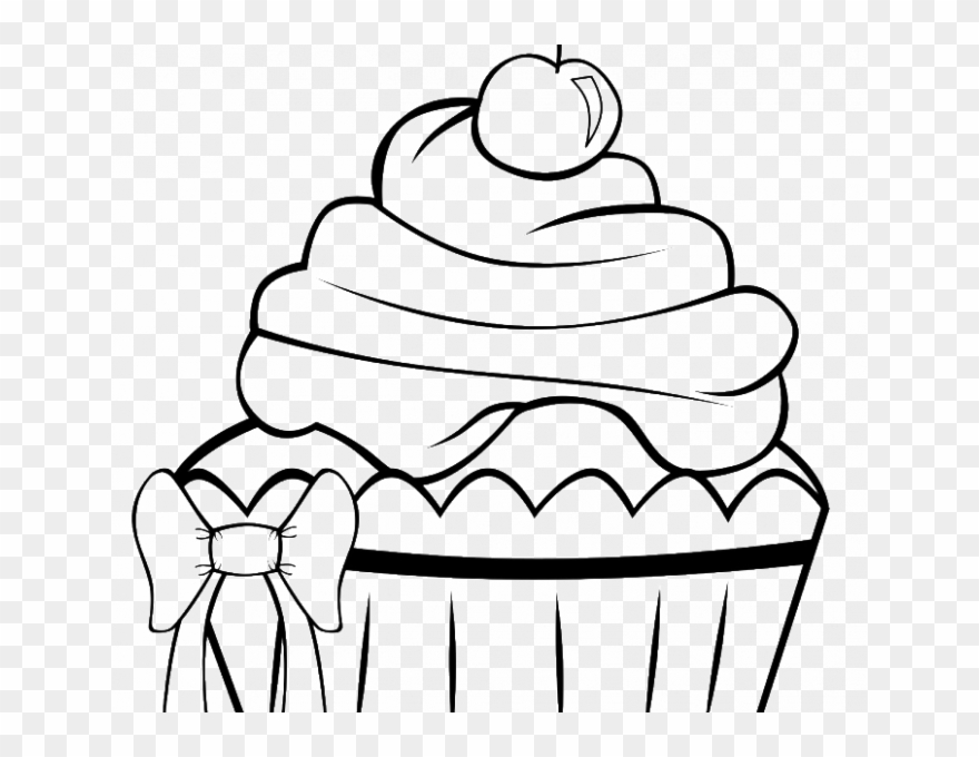 Cupcake with candle clipart coloring pages space for name picture transparent Cupcake Colouring Printables A Very Pretty Cupcake - Cute ... picture transparent