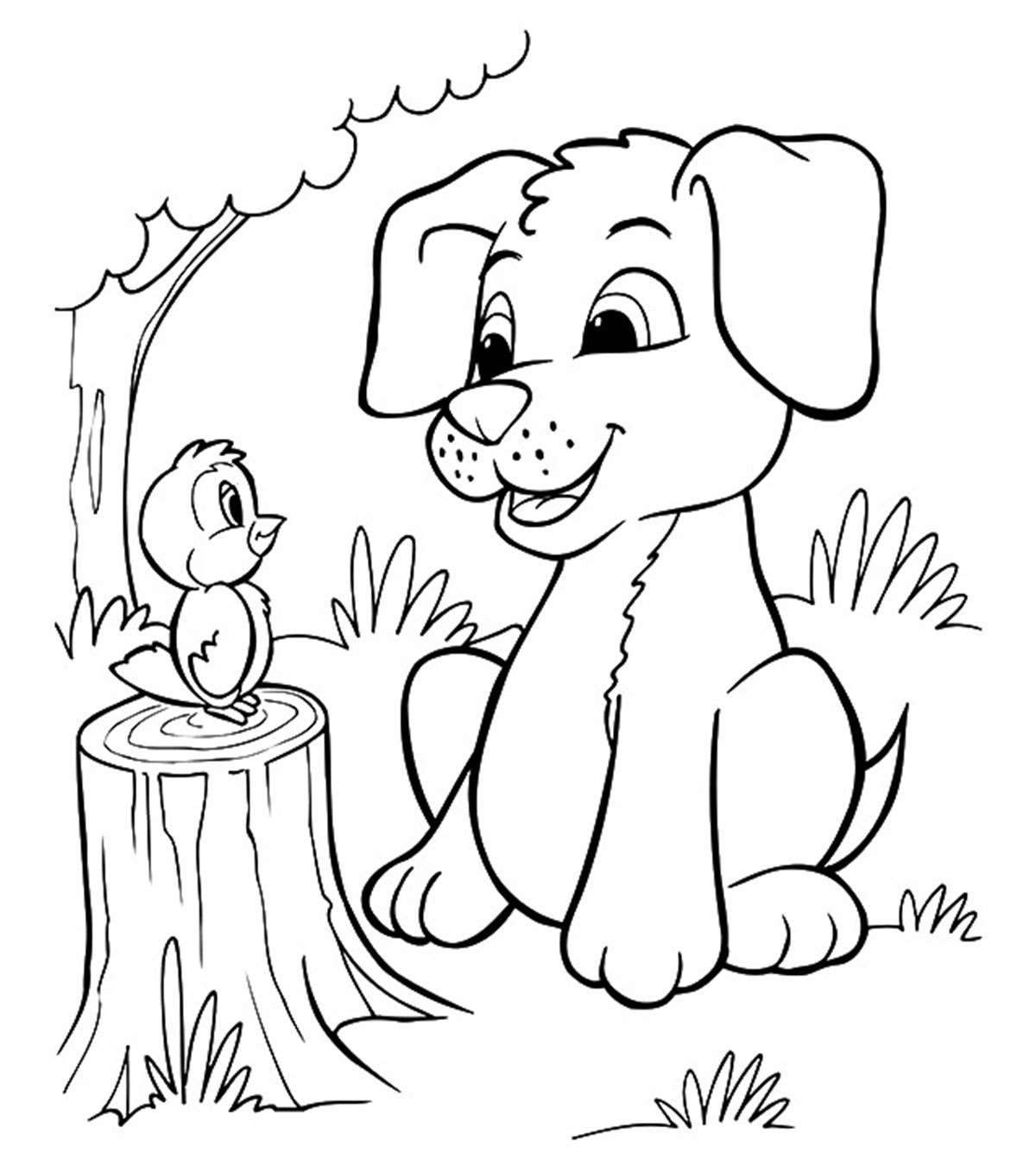Cupcake with candle clipart coloring pages space for name svg transparent stock Top 30 Free Printable Puppy Coloring Pages Online svg transparent stock