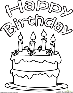Cupcake with candle clipart coloring pages space for name graphic stock Color the Happy Birthday Cake   School   Birthday coloring ... graphic stock