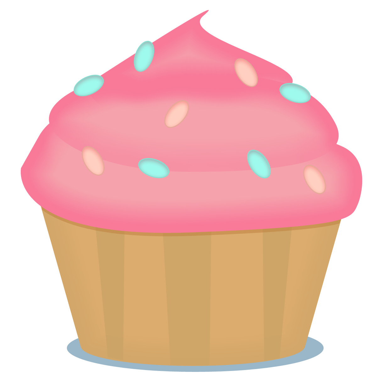 Cupcake with heart clipart jpg royalty free ✿⁀Cupcakes‿✿⁀ | Printattavaa | Pinterest | Free flyer design and ... jpg royalty free